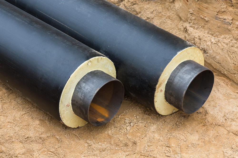 un réseau de chaleur est constitué en majeur partie de tube pré-isolé