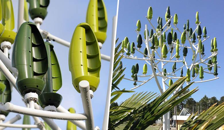 innovation éolienne pour particulier - l'arbre à vent de New Wind